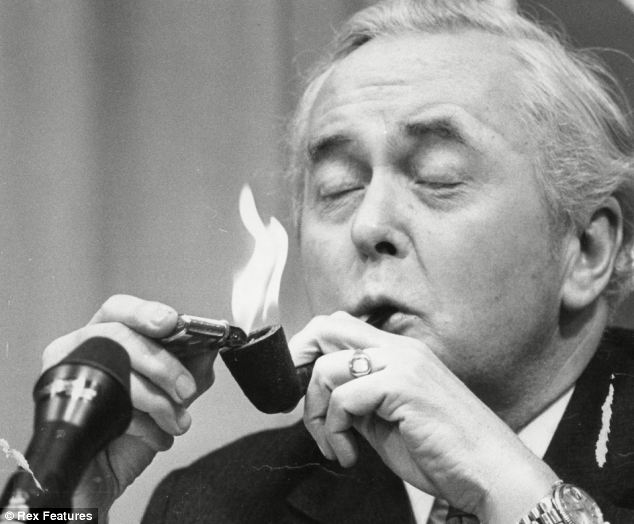 Harold Wilson smokes it up in 1975. Imagine David Cameron cracking out the Silk Cut on Newsnight...