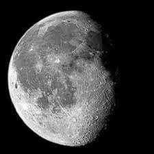 A waning gibbous moon, such as we'll see in the sky tonight.
