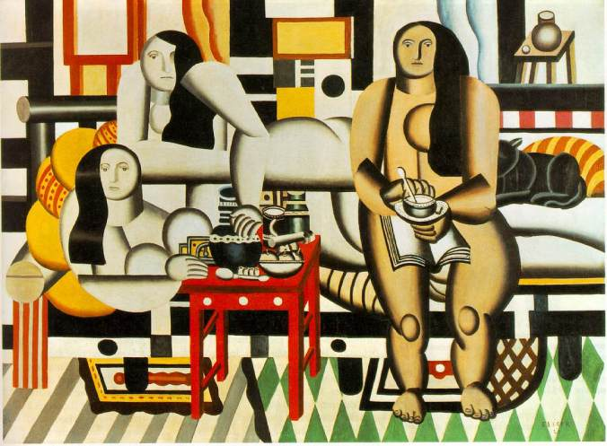 We weren't naked, I hasten to add. (This is 'Three Women' by Ferdinand Léger, 1921)
