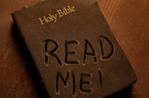 I'm not remotely religious... this was the best image I could find of a dusty book.