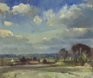 Edward Seago: 'A Norfolk Landscape'.  In hills, it is somewhat deficient.