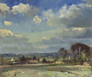 Edward Seago: 'A Norfolk Landscape'.  In hills, it is somewhat deficient.