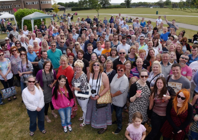 Hewett Big Reunion on the playing fields, July 2015. Image source: http://www.edp24.co.uk/news/education/hundreds_relive_their_norwich_school_days_at_hewett_school_s_big_reunion_1_4158930